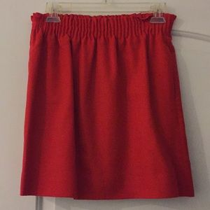 J crew signature high waisted skirt with pockets